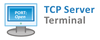 Papouch TCP Server terminal - logo