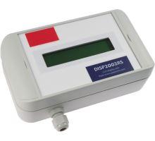 DISP2002RS: S LCD displejem 2x20 znaků - menší - v boxu s IP65