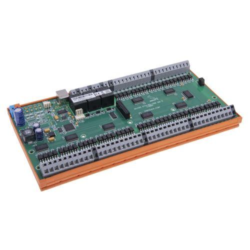 Ukázka elektroniky s držákem na lištu DIN 35 mm (elektronika není součástí dodávky).