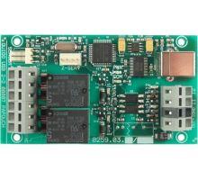 Quido USB 2/2: 2 vstupy, 2 výstupy, teploměr