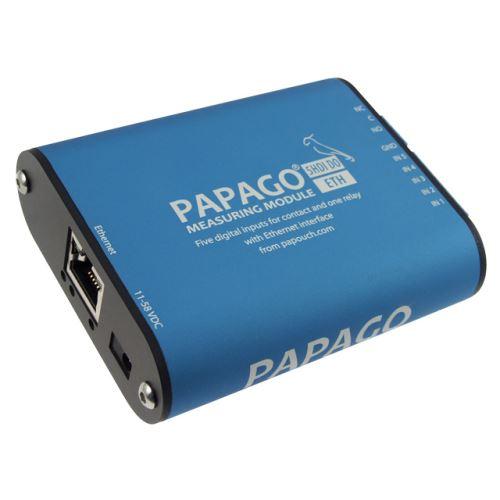 Papago 5HDI DO ETH má Ethernet (s PoE) a zároveň možnost externího napájení