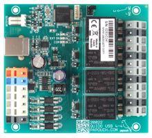 Quido USB 4/4: 4 vstupy, 4 výstupy a teploměr