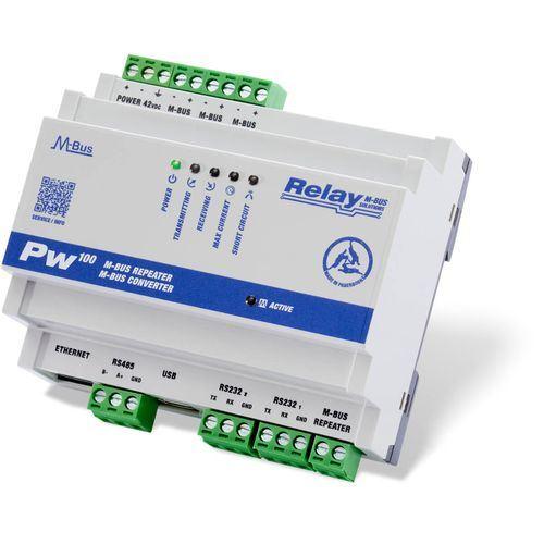 M-Bus převodník úrovní a opakovač Relay PW250 až pro 100 zařízení