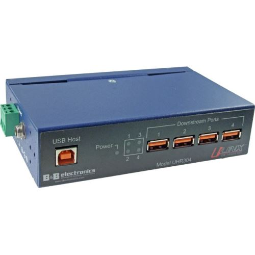 UHR304 - Průmyslový galvanicky oddělený 4-portový USB HUB