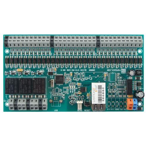 Quido ETH 30/3 - 30 vstupů, 3 výstupy a teploměr s ovládáním přes Ethernet (LAN)