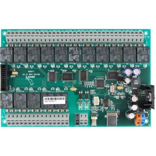 Quido USB 2/16 - 2 vstupy, 16 výstupů a teploměr